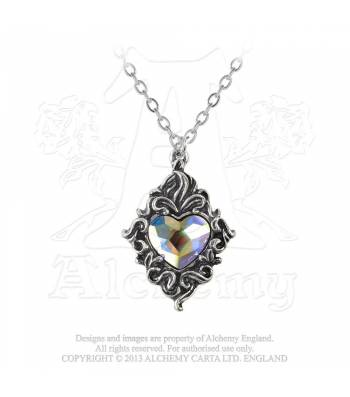 Crystal heart alchemy gothic pendant aloadofball Gallery